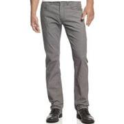 INC International Concepts Slim Straight Mini Corduroy Pants Grey 40 x 30