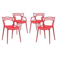 Modway Entangled Dining Armchairs, Set of 4, Multiple Colors