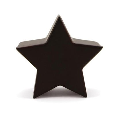 Wood Keepsake Urns - Extra Small 1 Pounds - Cherry Wood Brown Star Memory Chest