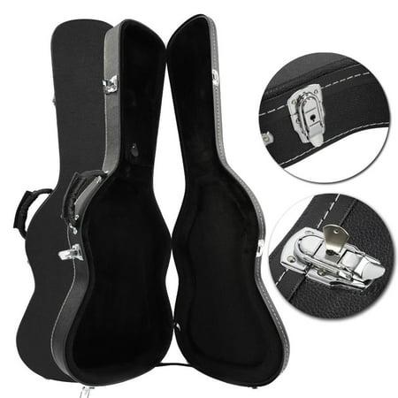 ktaxon new portable flat surface st electric guitar hard shell case black. Black Bedroom Furniture Sets. Home Design Ideas