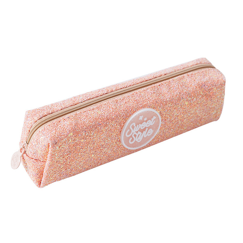 Creative Sequins Large Capacity Student Stationery Pencil Case School Supplies