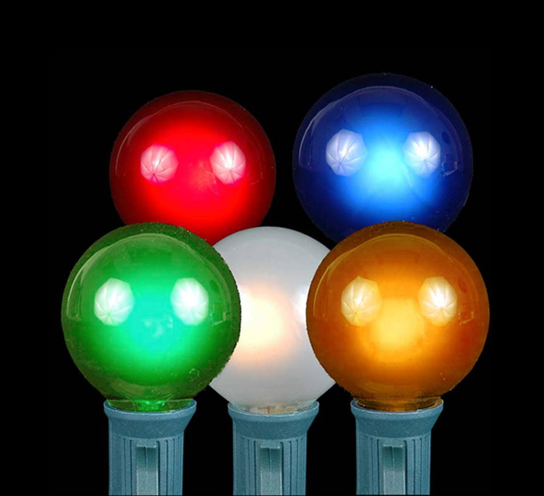 75 C9 Multicolor Opaque//Solid Color Bulbs Indoor//Outdoor Christmas Bulbs
