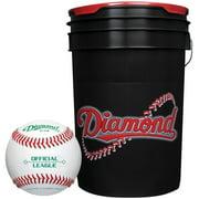 Diamond 6 Gallon Ball Bucket with 30 ODB Baseballs by Rawlings