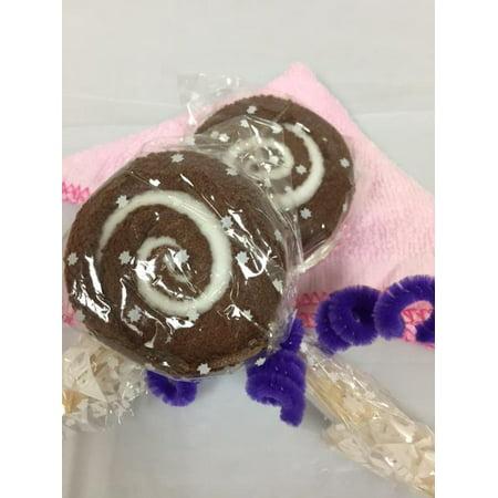 Lovely Lollipop Washcloth Creative Bath Spa Towel Wedding Party Favor.  Brown color! 2 Pieces](Wedding Color)