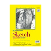 Strathmore Sketch Paper Pad, 300 Series, Tape-Bound, 9in x 12in, 100 Sheets