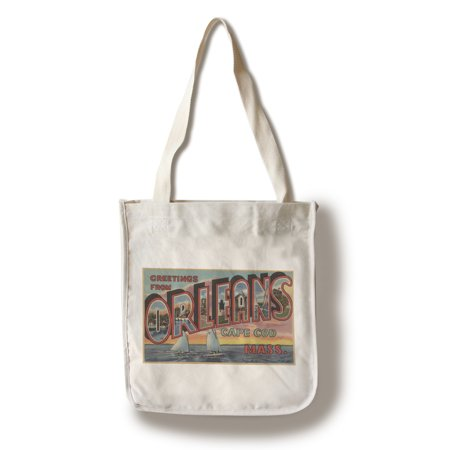 Greetings from Orleans, Cape Cod, Massachusetts (100% Cotton Tote Bag - Reusable)