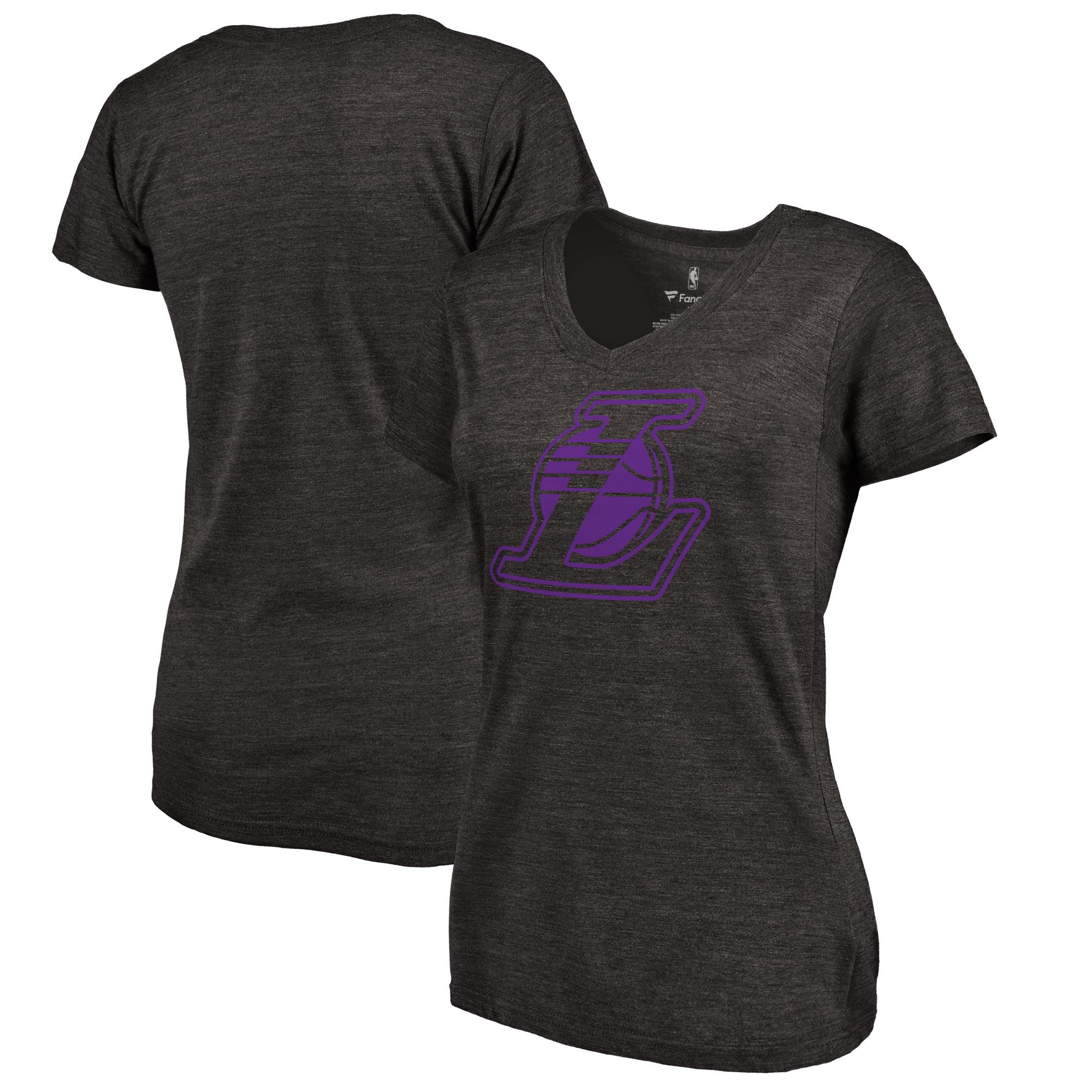 Los Angeles Lakers Women's Taylor Tri-Blend T-Shirt - Black