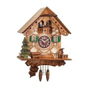 ENGS 0188QPT Engstler Battery-operated Clock - Mini Size with Music-Chimes