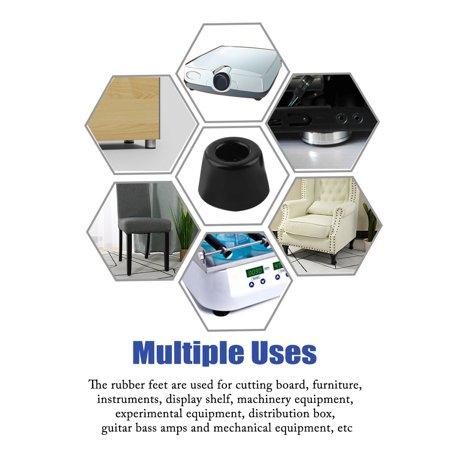 12pcs Rubber Feet Bumper Printer Chopping Board Speaker Leg Pads, D13x11xH9mm - image 4 of 7