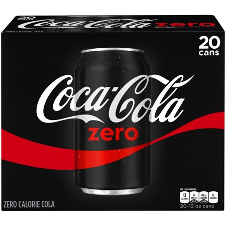 coca cola zero cans 12 fl oz 20 pack. Black Bedroom Furniture Sets. Home Design Ideas