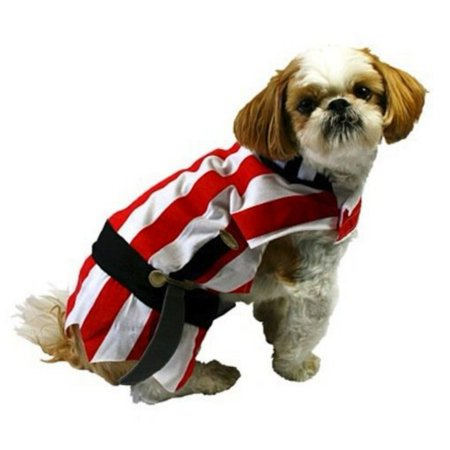 Pirate Dog Costume Red Striped Halloween Pet - Dog Pirate Costumes