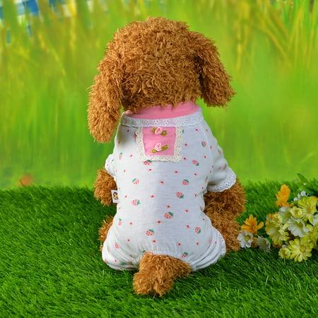 Unisex Pet Clothes Puppy Dog Cat Vest Tracksuit Coat Dress Sweater Apparel (Full Body Cat Suit)
