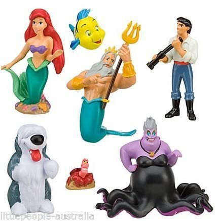Disney Parks Little Mermaid Ariel Collectible Figurine Playset Play Set Cake Top
