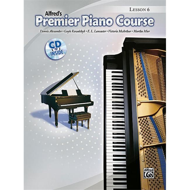 Alfred 00-34643 Premier Piano Course- Lesson Book 6 - Music Book