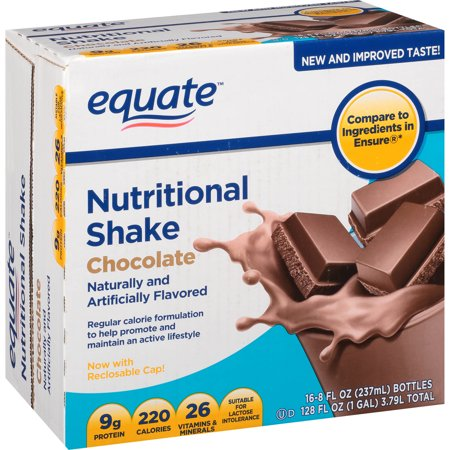 Equate Chocolate Nutritional Shake  8 Oz  16 Ct