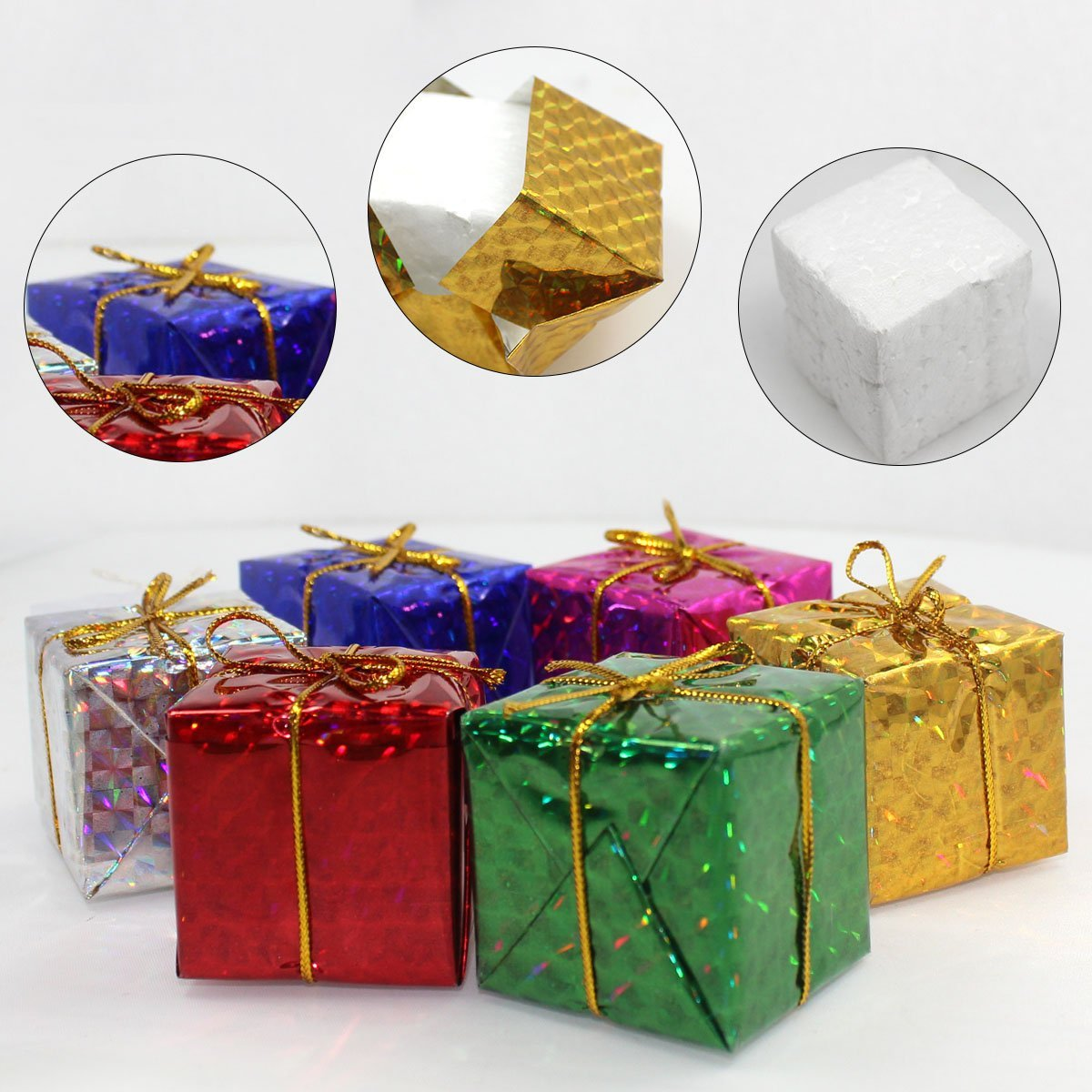 HURRISE Gift Boxes Assorted Colors Miniature 12/24/48pcs