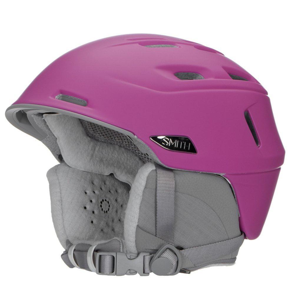 Compass Adult Ski Snowmobile Helmet Matte Midnight   Medium, Ultra-light in-mold construction By Smith Optics by