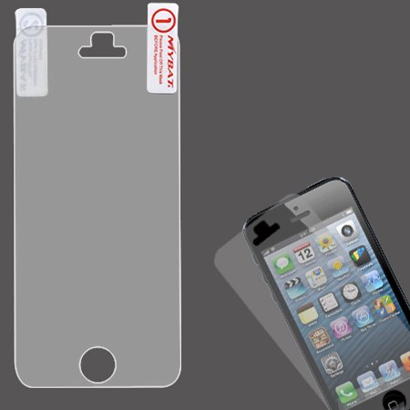 LCD Screen Protector Cover Film +Cloth Wipe +Applicator for iPhone 5 5C or 5S (Applicator Covers)