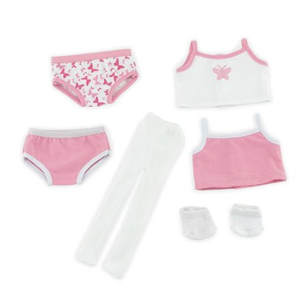 - Emily Rose 18 Inch Doll Clothes | Mix & Match 6-Piece Basic Underwear Set, Includes 2 bottoms, 2 tank tops, White Socks and White tights| Fits American Girl Dolls | Gift Boxed!