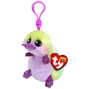 Ty Beanie Boos Petunia The Platypus Clip With Glitter Eyes