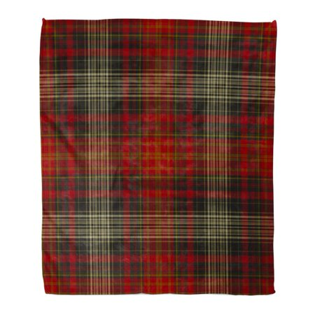 POGLIP Flannel Throw Blanket Brown Christmas Plaid Pattern Printing Pattern Beige Fall Tartan Autumn Cabin 50x60 Inch Lightweight Cozy Plush Fluffy Warm Fuzzy Soft - image 1 de 4