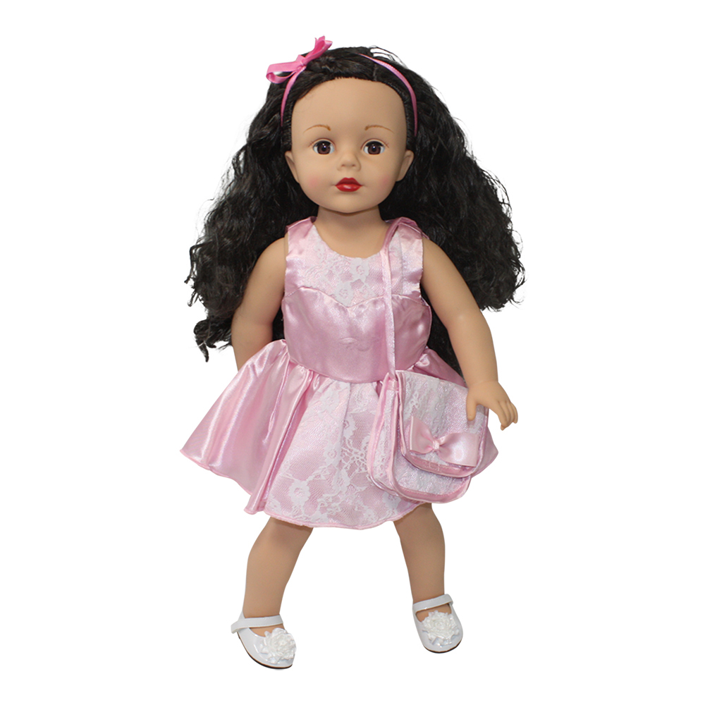 Arianna Pink Kisses Dress Fits 18 inch dolls