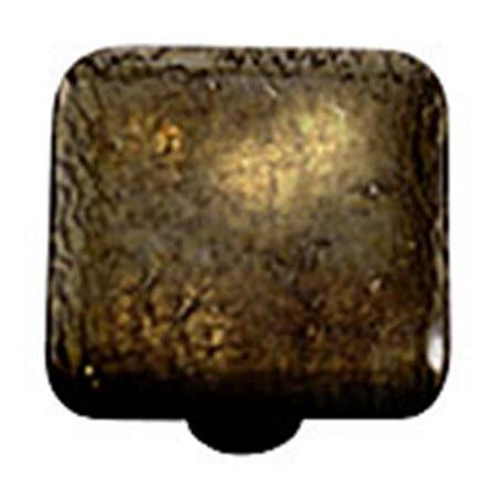 square glass cabinet knobs. Hot Knobs HK4004-KB Metallic Gold Irid Square Glass Cabinet Knob - Black Post O