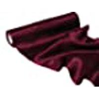 "BalsaCircle 12"" x 10 yards Satin Fabric Put-up Wedding Decor - Burgundy"