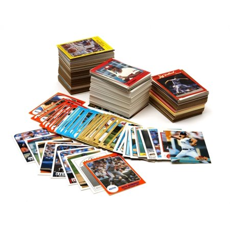 Baseball Card Collector Box With Over 500 Cards (500 Folded Cards)