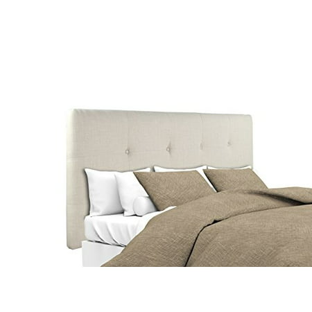 Acadia Collection - Sole Designs Ali Collection Padded Bedroom Headboard Panel with 8 Button Tufting, Arcadia Series, Natural Finish, Twin Headboard