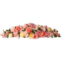 """National Tree Artificial 33"""" Pink Spring Flowers Swag"""