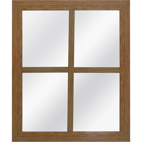 Better Homes and Gardens Window Pane Mirror, Oak