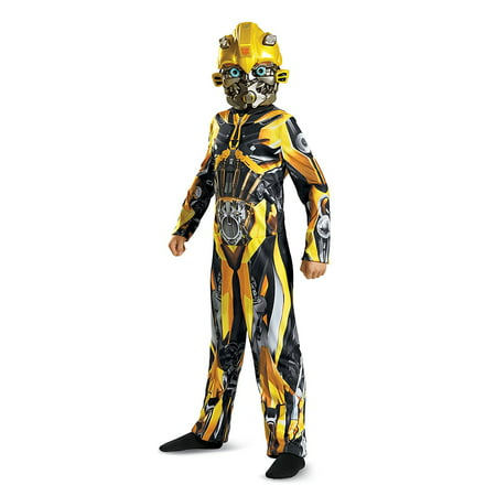 Transformers Bumblebee Classic Child Halloween Costume, One Size, L (10-12) - Bumblebee Costume Transforms Into Car