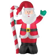 inflatable waving santa candycane outdoor christmas decoration