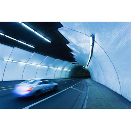 Urban Tunnel Car Moving with Motion Blur Poster Print by Design Pics Vibe, 38 x 24 - Large (Moving Pic O)