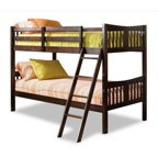 Mainstays Twin Over Twin Wood Bunk Bed Multiple Finishes Walmart Com