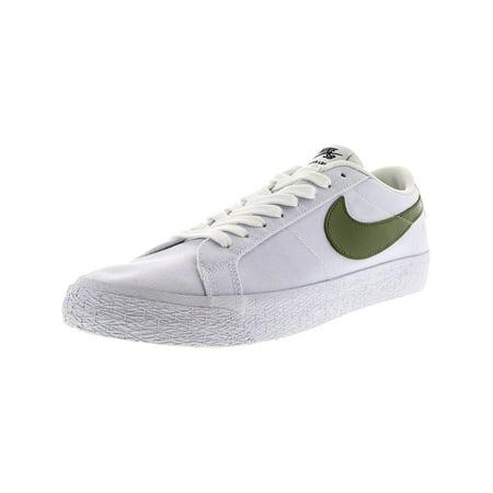 fbbcfa7d7ab43 Nike Men s Sb Blazer Zoom Low Xt White Ankle-High Canvas Skateboarding Shoe  - 10M ...