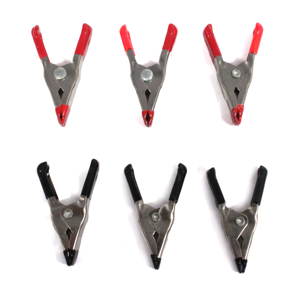 Mini Spring Clamp Set 2 Inch Steel Rubber Handles 6 piece set
