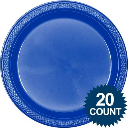 Blue Plastic Plates 10