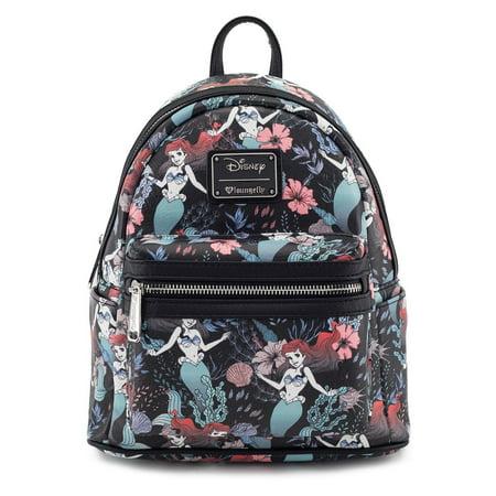 Loungefly Disney Ariel Little Mermaid Under the Sea Floral Mini Backpack Purse ()