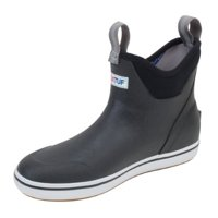 "Xtratuf Men's 6"" Black Ankle Deck Boots w/ Full Rubber Construction - Size 10"