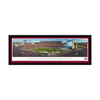"""Mississippi State Bulldogs 42"""" x 15.5"""" 50-Yard Line Select Frame Panoramic Photo - No Size"""