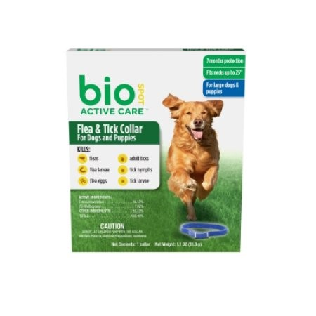 Bio Spot Active Care Flea & Tick Collar for Dogs, for Large Dogs & Puppies