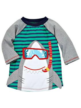 Boys Shark Rashguard Swim Top XS 6-9 months