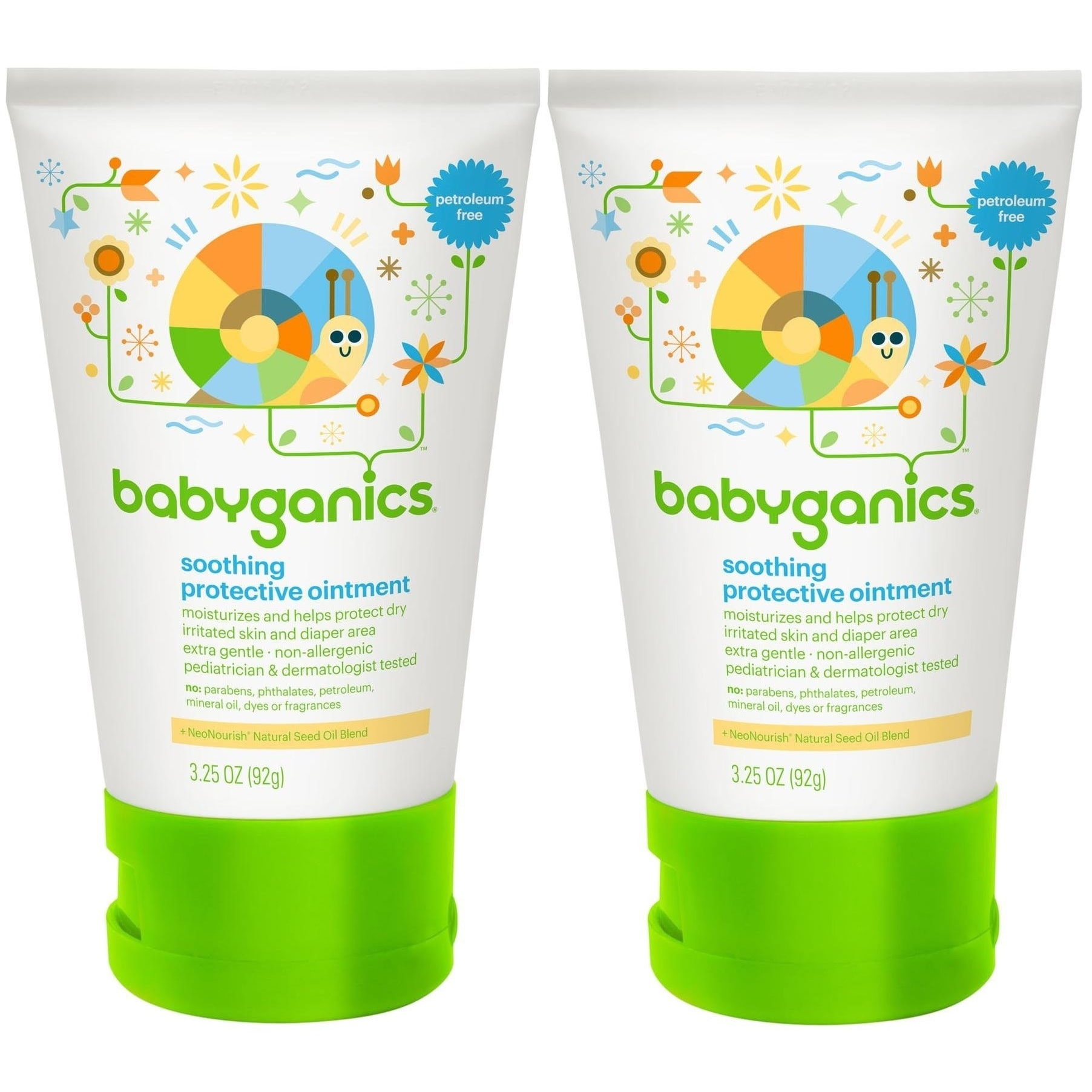 Babyganics Soothing Protective Ointment - 3.25 Ounce - 2 Pack