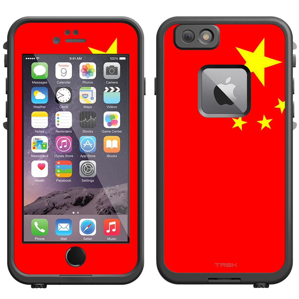 Skin Decal for LifeProof iPhone 6 Case Chinese Flag by Trek Media Group