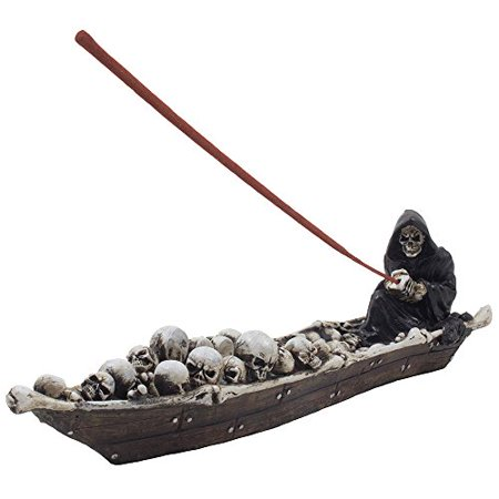 Home-n-Gifts Scary Grim Reaper in Fishing Boat of Skeletons Halloween Decorations](Halloween Potpourri)