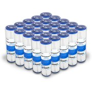 """Pleated Polypropylene Water Filter Cartridge 10x2.5"""" 10 Micron 25 Pack"""