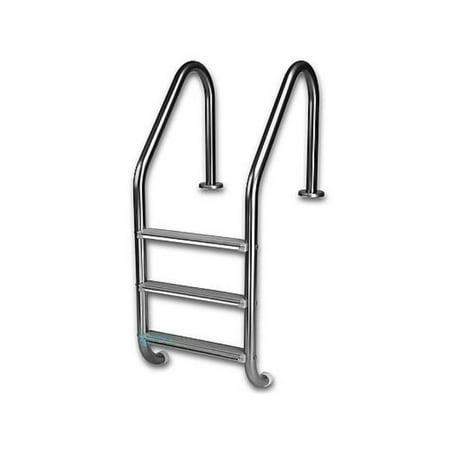 Inter-Fab L3E049PW 3-Step Economy Ladder High Impact Plastic Treads - High Classic Ladder