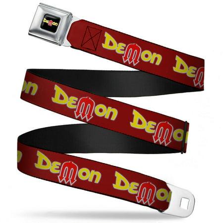 Dodge Demon Burgundy Yellow Red Webbing   Seatbelt Belt Regular
